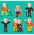 Older people Elderly activity elderly care vector image