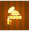 restaurant menu with a cap and plate vector image