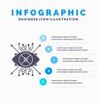 ar augmentation cyber eye lens infographics vector image vector image