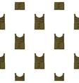 Army bulletproof vest icon in cartoon style vector image