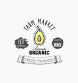 avocado bio sticker and eco products web vector image