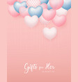 balloon heart colorful valentines day concept vector image