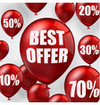 best offer balloons vector image vector image