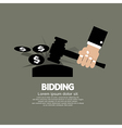 Bidding or Auction Concept vector image vector image