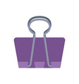 binder clip office flat icon design vector image