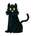 black cat head vector image vector image