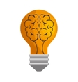bulb brain isolated icon vector image