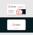 business card for real estate agency vector image vector image
