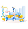 business workflow data processing metaphor banner vector image