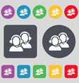 Call center icon sign A set of 12 colored buttons vector image vector image