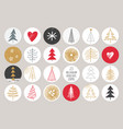 christmas and new year post and stories template vector image vector image