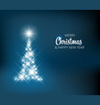 christmas tree made of light vector image