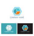 cube 3d company logo vector image vector image