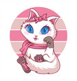 cute feminine cat vector image