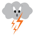 dark cloud with thunder struck symbolizing the vector image