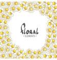 delicate flowering daisies vector image vector image