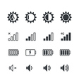 Different mobile phone application pictograms vector image