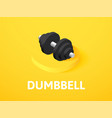 dumbbell isometric icon isolated on color vector image vector image