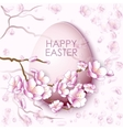 Easter egg and sakura flowers vector image vector image