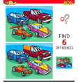 find differences game with cars vector image vector image