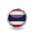 flag of thailand button with metal frame and vector image vector image