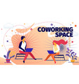 freelance online job in coworking space developer vector image