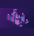 futuristic city concept banner isometric style vector image