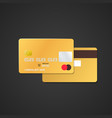 gold bank card mockup vector image