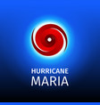 graphic banner of hurricane maria vector image vector image