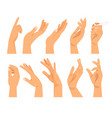hand gestures in different positions vector image vector image