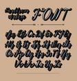 handwritten lettering font alphabet vector image vector image