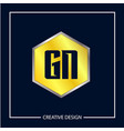 initial letter gn logo template design vector image