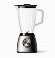 kitchen electric stationary blender with a glass vector image