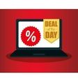 laptop deals day technology discounts vector image