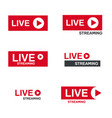 live stream symbol vector image vector image