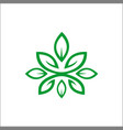 logos green leaf ecology nature element icon vector image vector image