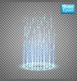 magic fantasy portal futuristic teleport light vector image vector image