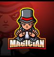 magician mascot esport logo design vector image vector image
