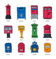 mail box post mailbox or postal letterbox vector image