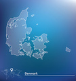 Map of Denmark vector image