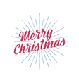 Merry Christmas typography label Retro photo vector image vector image