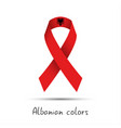 modern colored ribbon with the albanian colors vector image vector image