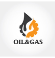 oil and gas industry design template vector image vector image