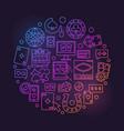 online casino linear bright vector image vector image