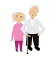 pair of grandparents vector image vector image