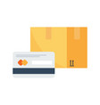 payment by credit card for express delivery vector image vector image