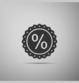 percent symbol discount icon on grey background vector image vector image