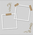 photo frame realistic paper instant photograph vector image vector image
