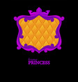 princess purple frame with geometric upholstery vector image