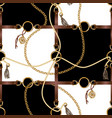 seamless pattern with belts chain vector image vector image